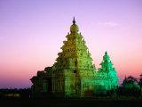Shore Temples at Sunset, Mamallapuram, Tamil Nadu, India Photographic Print by Greg Elms