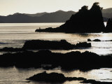 Lone Fisherman on Rocks at Sunrise in Russell, Bay of Islands, Northland, New Zealand Photographic Print by Stephen Saks