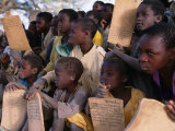Children at Village School, Niger Photographic Print by Oliver Strewe
