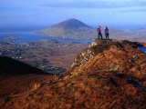 People on Slopes of Diamond Hill in Connemara National Park, Connemara, Ireland Photographic Print by Gareth McCormack