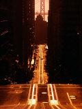 Cable Car Tracks on California Street, San Francisco, U.S.A. Fotografisk tryk af Thomas Winz