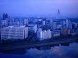 City Skyline from 17 Yanggakdo Hotel, P'Yongyang, North Korea Photographic Print by Tony Wheeler