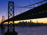 Skyline and Bay Bridge from Treasure Island, San Francisco, California, USA Photographic Print by Roberto Gerometta