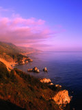 Sunset on the Big Sur Coastline, California, USA Photographic Print by Thomas Winz