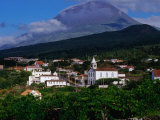 Pico Volcano Above Village on South Coast, Portugal Photographic Print by Wayne Walton