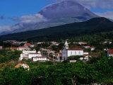 Pico Volcano Above Village on South Coast, Portugal Photographic Print by Wayne Walton