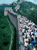 Standing Room Only on the Great Wall, Badaling, Beijing, China, Photographic Print by Frank Carter