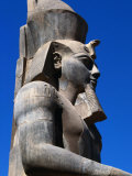 Colossi to Thutmose II at Temple of Luxor, Luxor, Egypt Photographic Print by Wayne Walton
