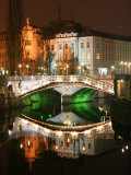 Triple Bridge, Central Pharmacy, Ljubljana, Slovenia Photographic Print by Jonathan Smith