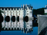 Chateua De Chenonceau Built Over River Cher in the Loire Valley, Chenonceaux, France Photographic Print by Diana Mayfield