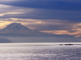 Mt. Rainier from a Ferry on the Seattle to Bainbridge Island Run, Seattle, Washington, USA Photographic Print by Lawrence Worcester