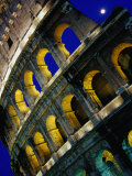 The Colosseum Lit Up at Night, Rome, Lazio, Italy Photographic Print by Glenn Beanland