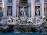 Trevi Fountain, Created by Nicola Salvi, Rome, Italy Photographic Print by Martin Moos