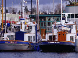 Lake Union Boats at Dock, Seattle, Washington, USA Photographic Print by Lawrence Worcester