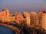El Corniche Waterfront on East Side, Alexandria, Egypt Photographic Print by John Elk III