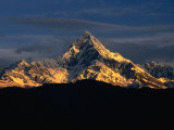 Mt. Machupuchare in the Annapurnas Range, Nepal Photographic Print by Carol Polich