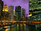 The City and River from the Michigan Bridge,Chicago, Illinois, USA Photographic Print by Richard Cummins
