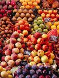 Fruit at La Boqueria Market, Barcelona, Spain Fotografie-Druck von Oliver Strewe