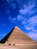 Pyramid of Chephren (25 BC),Giza, Egypt Photographic Print by John Elk III