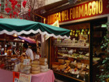 Cheese Stall Outside Cheese Shop on Via Pessina, Lugano, Ticino, Switzerland Photographic Print by Stephen Saks