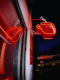 Coffee Cup Neon Sign on Pike Place Market, Seattle, Washington, USA Photographic Print by Lawrence Worcester