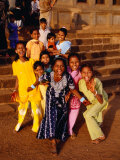 Group of Girls, Bijapur, India Photographic Print by Craig Pershouse