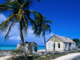 Buildings from an Old Settlement on the Shore, Cat Island, Bahamas Photographic Print by Greg Johnston