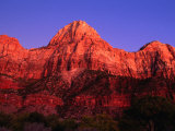 Sunset Over the Watchman, Zion National Park, USA Photographic Print by John Elk III