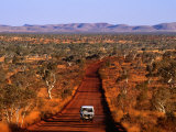 Car on Outback Road, Karijini National Park, Australia Photographic Print by Oliver Strewe