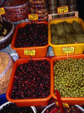 Olives and Stuffed Vine Leaves in Stall on 1866 Street, Iraklio, Greece Photographic Print by Neil Setchfield