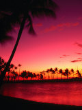Sunset at Anaehoomalu Beach, Waikoloa, Hawaii, USA Lámina fotográfica por Ann Cecil