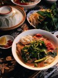 Bowl of Beef with Rice Noodles., Vietnam Photographic Print by Greg Elms