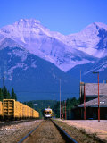 Banff Train Station, Banff National Park, Alberta, Canada Photographic Print by Lawrence Worcester