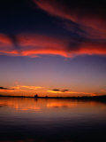 Sunset Over Water in the Amazon Region, Amazonas, Peru Photographic Print by Shannon Nace