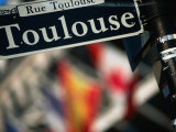 Toulouse Street Sign New Orleans, Louisiana, USA Photographic Print by John Hay