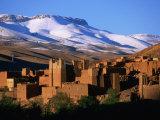 Village of Ait Arbi and Mountains, Dades Gorge, Morocco Fotografisk tryk af John Elk III