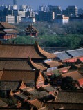 Forbidden City and Modern Buildings in Distance, Beijing, China Photographic Print by Martin Moos