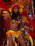 Woman in Costume for Carnival at Sombodromo, Centro, Rio De Janeiro, Brazil Photographic Print by John Maier Jr.