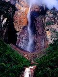 Angel Falls Seen from Mirador Laime Lookout, Angel Falls, Venezuela Photographic Print by Krzysztof Dydynski