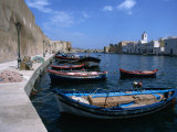 Boats Moored in Harbor, Bizerte, Bizerte, Tunisia, Tunisia, Photographic Print