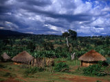 Traditional Village Huts, Southern Nations, Nationalities and Peoples, Ethiopia Fotografisk tryk af Jane Sweeney