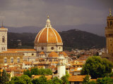Skyline Including Duomo and Tower, Florence, Tuscany, Italy, Photographic Print