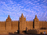 Djenne's Grand Mosque (1905) is the Largest Mud-Brick Building in the World, Djenne, Mopti, Mali Fotografie-Druck von Ariadne Van Zandbergen