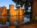 Bodiam Castle Reflected in Moat, East Sussex, England Photographic Print by David Tomlinson