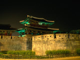 Old City Walls and Gate at Night, Jeonju, South Korea Photographic Print by Martin Moos