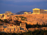 The Acropolis Taken from Phiopappos Hill, Athens, Greece Fotografisk tryk af John Elk III