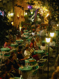 Outdoor Dining Sicilian Style, Taormina, Sicily, Italy Photographic Print by Dallas Stribley