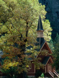 Yosemite Chapel, Yosemite Valley, USA Fotografisk tryk af John Elk III
