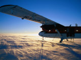 Twin-Otter Aircraft on Snow, Antarctic Plateau, Antarctica Photographic Print by David Tipling
