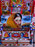 Decorated Rickshaw, Dhaka, Dhaka, Bangladesh Photographic Print by Richard I'Anson